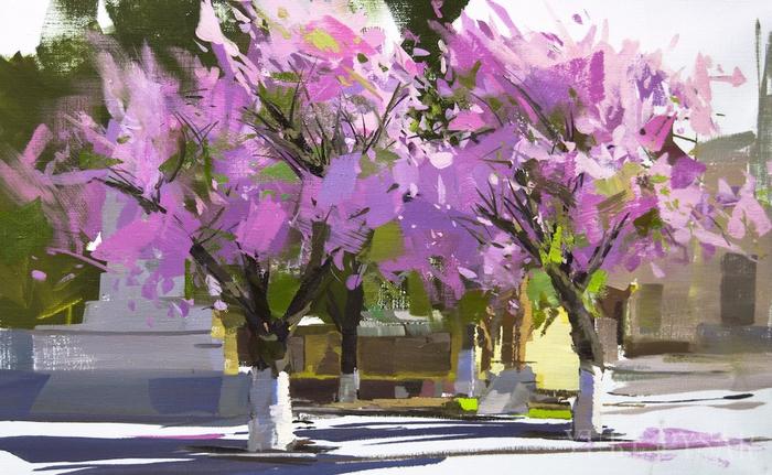 sakura-painting-oil-landscape-rakhiv (700x431, 384Kb)