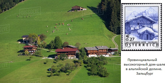 аАustria, Tyrol, Alpach, Hill Farm, Cows grazing on Alpbachtal Valley (688x347, 120Kb)