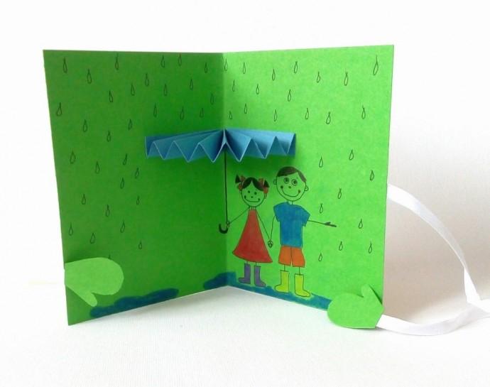 Объемная открытка детям