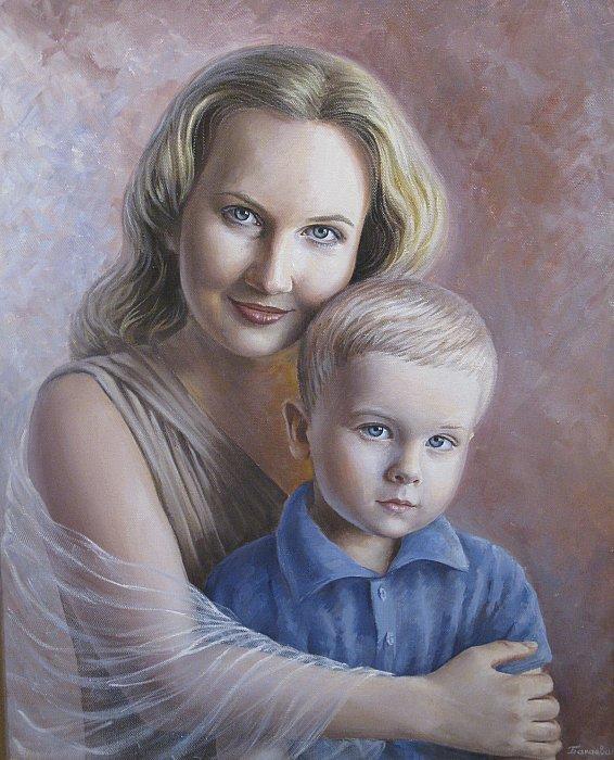 Картинка мамы с ребенком нарисованные