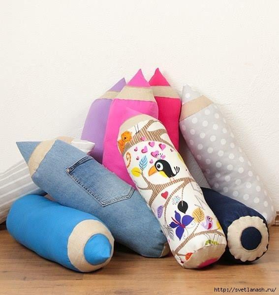Как сшить веселые подушки-карандаши