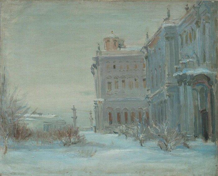 1941-1943 В сквере Зимнего дворца. Х, м. Балаченкова, Н. В., частное собрание (700x565, 77Kb)