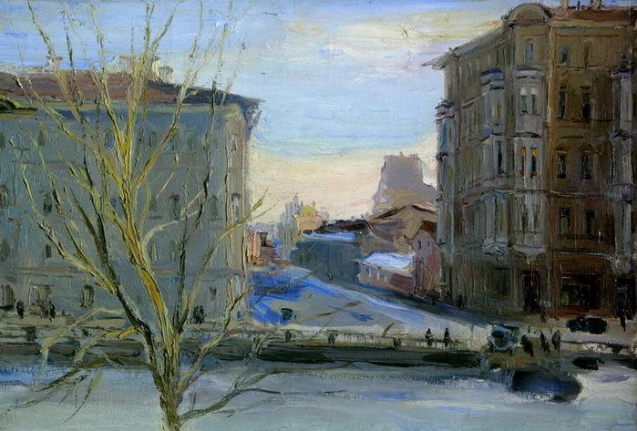 1943 Демидов переулок. Холст, масло. 58 х 84 см. ГРМ (700x473, 150Kb)