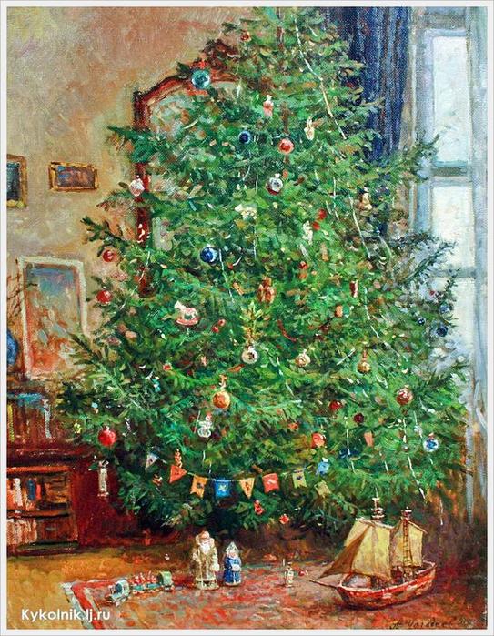 Чагадаев Александр Перед Рождеством (543x700, 574Kb)