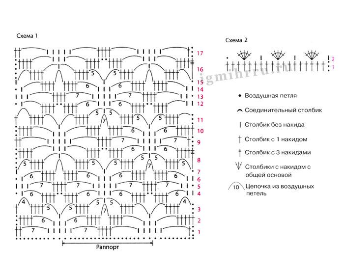 Рисунок паучки крючком схема и описание