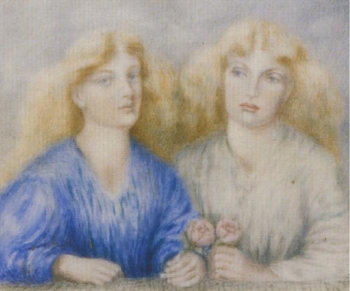 1867 Сестры Маккракен-сладко цветущие розы, Акварель на слоновой кости. 6,3 х 7,6 см. ЧС (700x581, 91Kb)