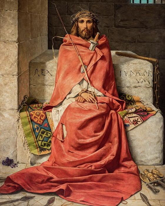 1897 Царь скорбей (king of sorrows). Х, м. 53,5 x 43,5 дюйм. Аук Case Antiques, 2018, Ноксвилл. за 14.080 дол. (561x700, 182Kb)