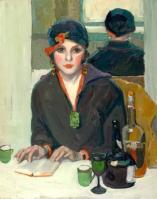 jane-peterson-reading-at-a-cafe-1920 (550x700, 399Kb)