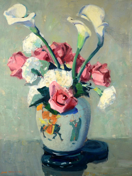 jane-peterson-roses-and-lilies (525x700, 403Kb)
