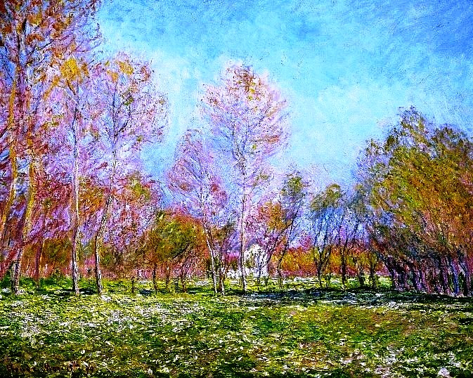 1 Claude Monet, Spring in Giverny, 1890 (673x538, 646Kb)