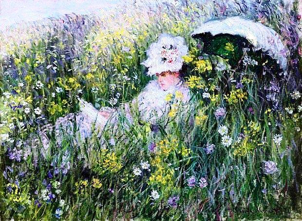 6 C. Monet - in the meadow (620x454, 412Kb)