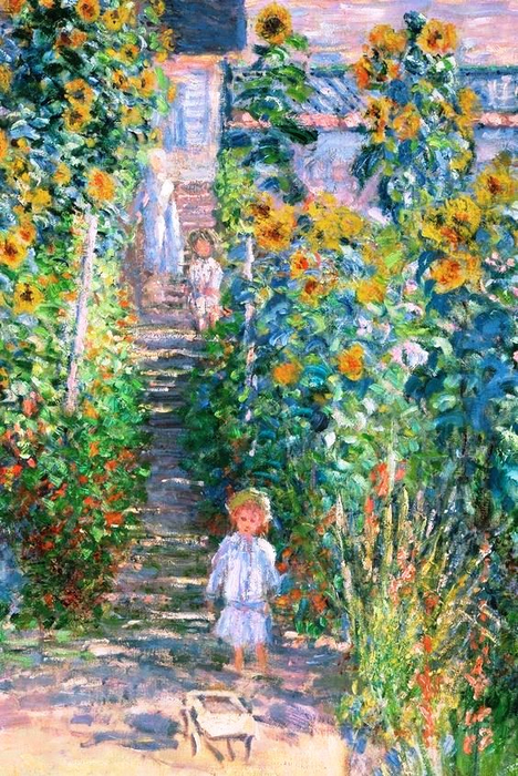 7 he Artist's Garden at Vétheuil (detail), 1880, Claude Monet. (468x700, 516Kb)