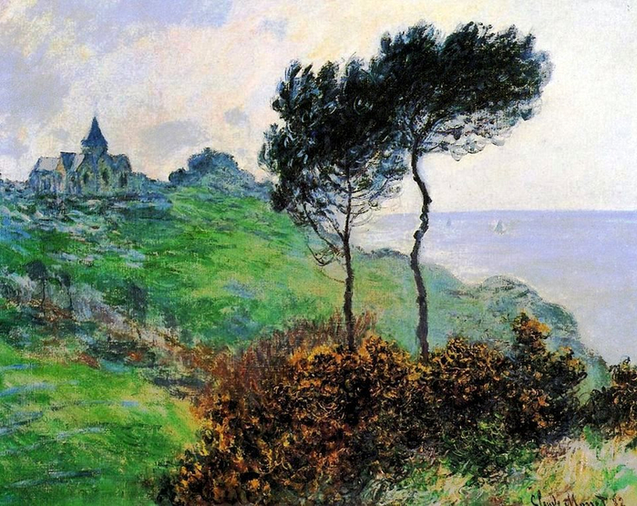 11 Claude Monet; 1882 The Church at Varengeville (700x555, 502Kb)