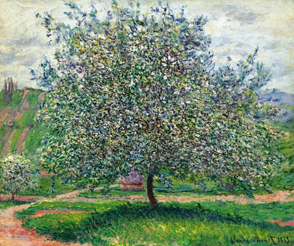 53 Claude Monet - Le Pommier, 1879. Oil on canvas,  (54.2 x 65.5 cm.). Christie's Images, New York (575x480, 359Kb)
