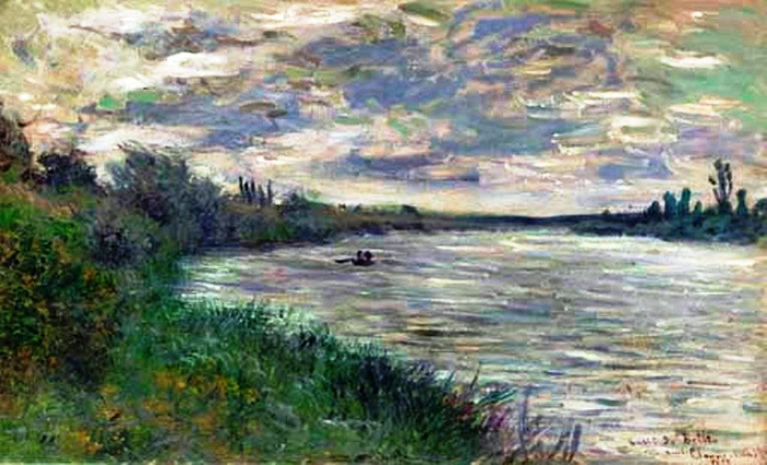 57 Claude Monet - The Seine Near Vetheuil, stormy weather, 1878. (700x425, 325Kb)