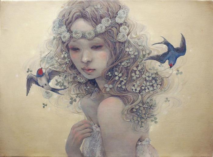 А я люблю, как женщина, цветы... Рисунки художницы Михо Хирано