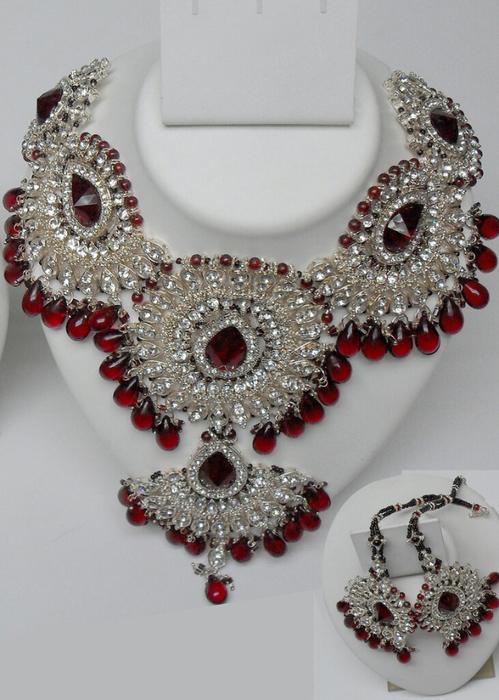 Diamond-with-Maroon-Stone-and-maroon-kundan-Polki-Necklace-Set[1] (499x700, 366Kb)