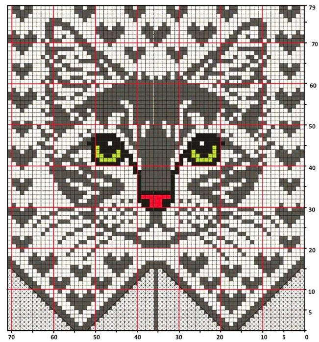Варежки с котами 16г (651x700, 890Kb)