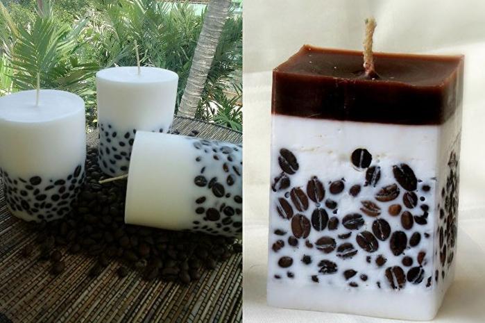 Кофейные свечи своими руками