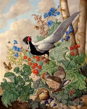 sebastian-wegmayr-stillleben-mit-fasan-und-henne,-alpen--und-wiesenblumen (303x379, 52Kb)