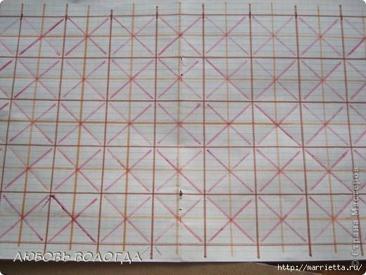 Плетение из газет. Мастер-класс на крышку с цветным узором из трубочек (2) (520x390, 133Kb)