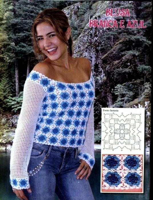 Голубки Вязание, Вязание крючком: Сумка вязаная Белый квадрат Пряжа.