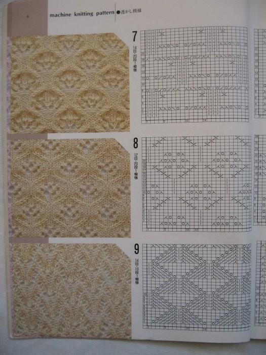 Китайский узор для вязания спицами 916
