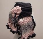 Вязаный мужской шарф узор. вязаный крючком хомут, вязаные носочки и...