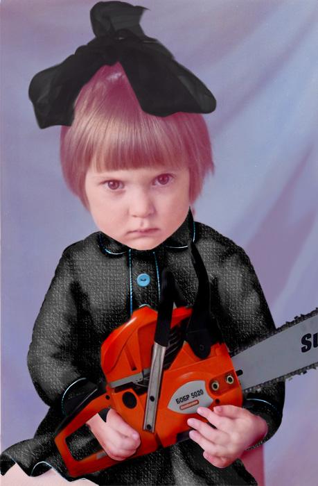 [little evil girl]