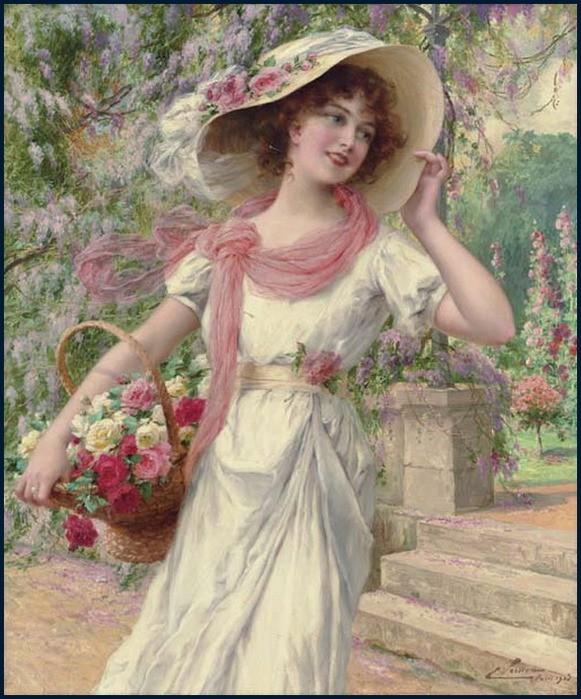 Emile Vernon - The Flower Garden