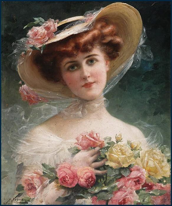 Emile Vernon - La belle aux fleurs.