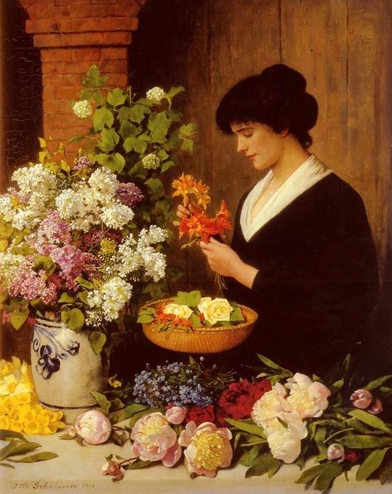 Scholderer Otto - The flower arrangement