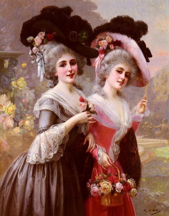 "Antonio Cristobal  ""The Basket Of Roses"""