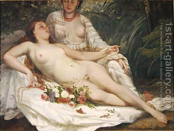 Gustave Courbet : Bathers or Two Nude Women, c.1858