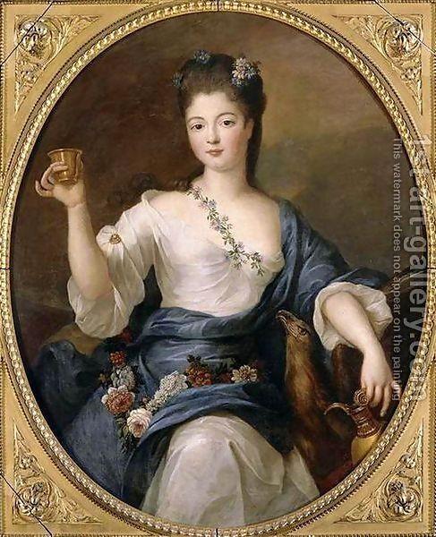 Pierre Gobert : Portrait of the Duchess of Modena as Hebe