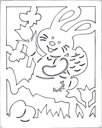 Я понимаю, что зайцы...  Шаблоны вытынанки.