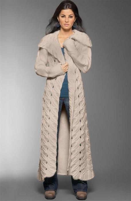 Кардиган.  Супермодное вязаное пальто.  Часть 19 - Пальто.