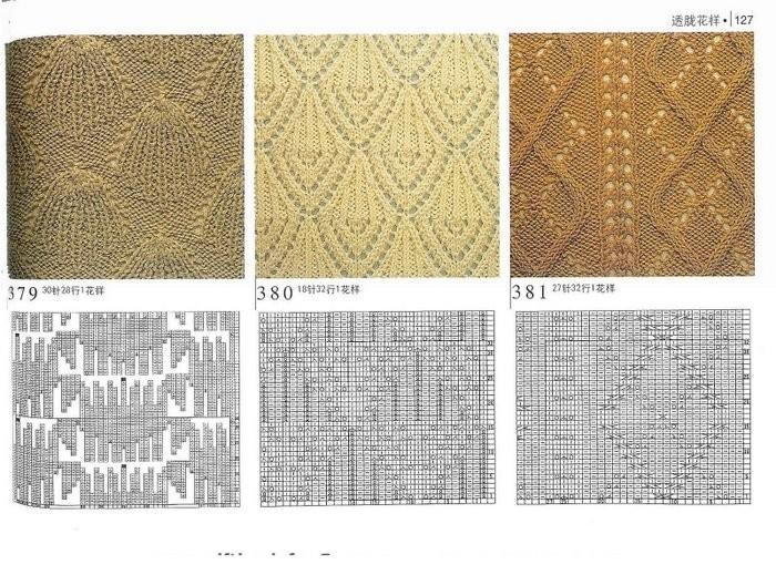 ажурные узоры для вязания спицами со схемами. ажурные узоры спицами со.