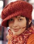 оригинальные женские шапки вязанные спицами.