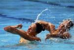 Кристина Николини и Елена Тини (Christina Nicolini and Elena Tini) из Сан-Марино. Выступление пар на чемпионате Европы по синхронному плаванию в Будапеште, 5 августа 2010 года.