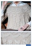 схема вязания косы на шарфе.  Женские вязаные сапоги в полоску.
