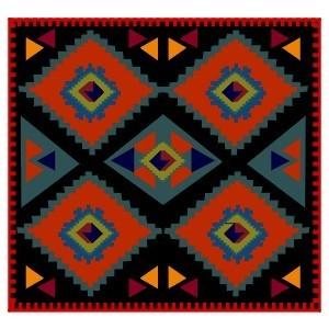 """Схема вышивки  """"Африканский орнамент """": предпросмотр."""