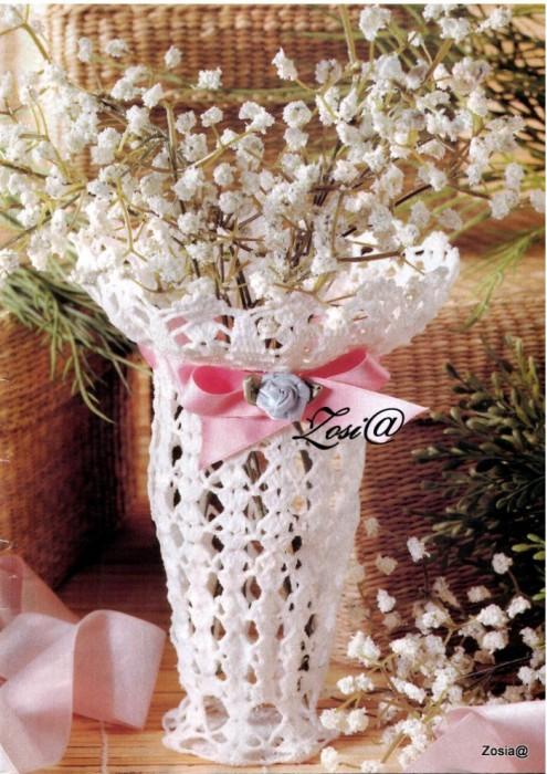 вязка крючком вазочки схемы - Сумки