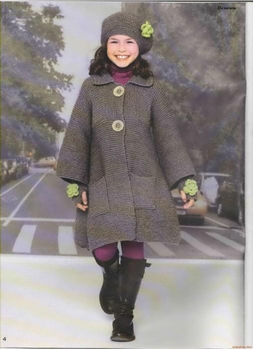 вязаное пальто для девочки спицы обсуждение на Liveinternet
