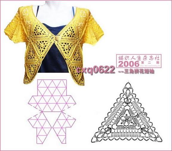 Девочки, нашла такую болерошку из треугольников, может кому-то...