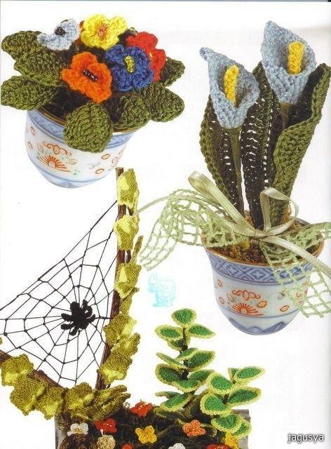 Цветы вязанные крючком схемы - Стильно.  Автор:Admin.