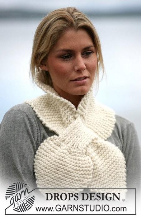 Вязаные шарфы спицами.