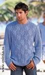 оптом Мужской свитер белого цвета с рисунком.