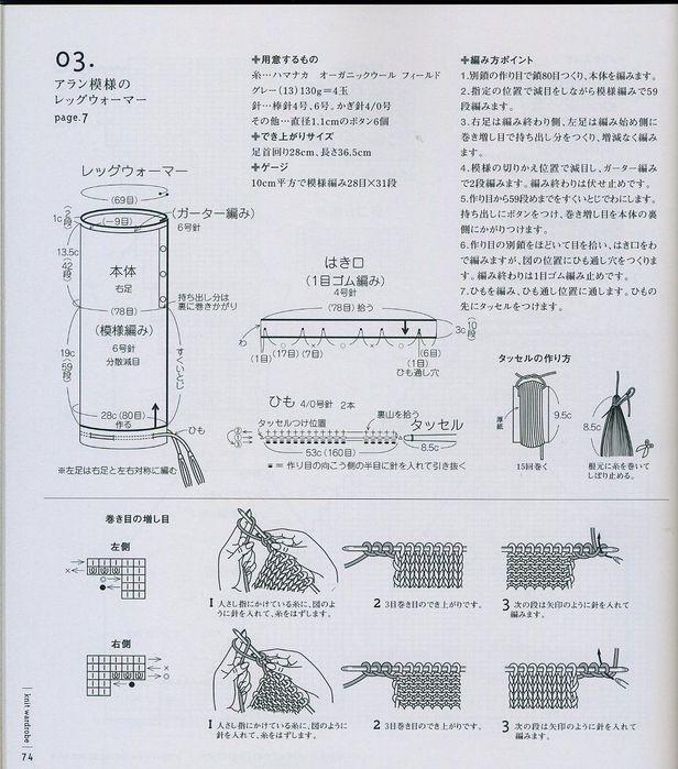 схемы для вязания спицами гетры на сапоги.