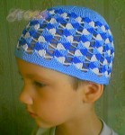 Гардероб Вязание крючком: Летняя шапочка для девочки Пряжа.  Фото.